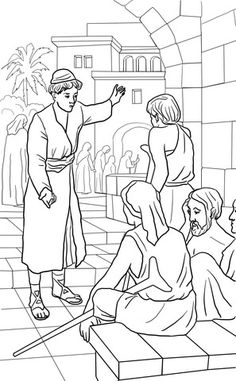 Parable of the Great Banquet coloring page from Jesus' parables category. Select from 22052 printable crafts of cartoons, nature, animals, Bible and many more.
