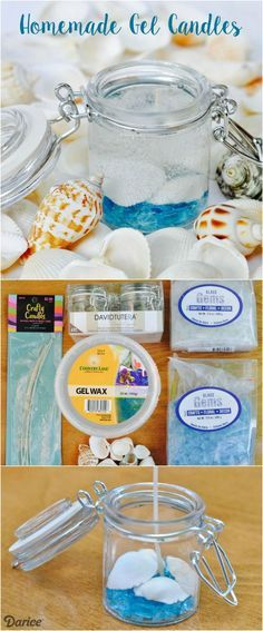 Learn how to make your own gel candles with this step by step tutorial!
