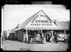 Henry Stuart's Great Western Store, Hill End / from the Holtermann collection at the State Library of NSW