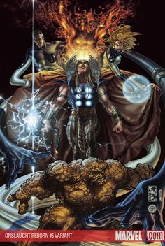 The Heroes Reborn Thor and Fantastic Four by Simone Bianchi