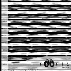 PaaPii Design - Virtanen luomujersey, mustavalkoinen
