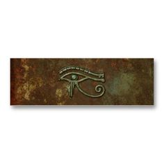 Shop Eye of Horus Grunge Rust Personalized Mini Business Card created by BudgetSymbols.