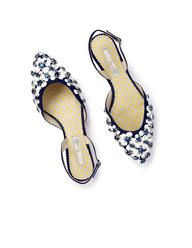 Everybody needs a little sparkle! Bella Slingback Flats at Boden Wedge Sneakers, Wedge Sandals, Shoes Sandals, Slingback Shoes, Heels, Embellished Sandals, Boots For Sale, Party Shoes