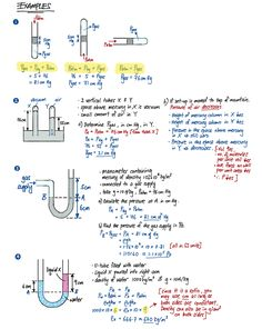Liquid Pressure Summary Part 2 – Evan's Space Learn Physics, Physics Lessons, Physics Concepts, Basic Physics, Physics Formulas, Physics Notes, Chemistry Lessons, Physical Chemistry, Physics And Mathematics