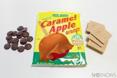 wrap the caramel around the cracker tent - It's time to pitch camp