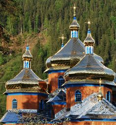 A Church in Carpathian Mountains, western Ukraine Religious Architecture, Church Architecture, Monuments, Travel To Ukraine, Cool Places To Visit, Places To Go, Russia Ukraine, Carpathian Mountains, Ukrainian Art