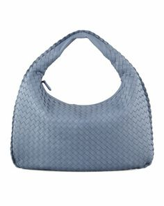 Intrecciato Medium Hobo Bag, Blue by Bottega Veneta at Neiman Marcus.