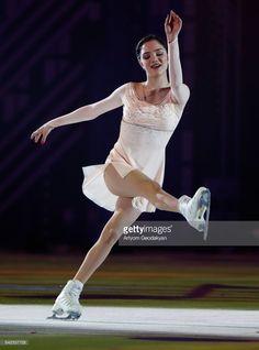 Russian figure skater Evgenia Medvedeva performs during an ice skating show marking Russian figure skating coach Tatiana Tarasova's 70th birthday at Rossiya Concert Hall in Luzhniki. Artyom Geodakyan/TASS