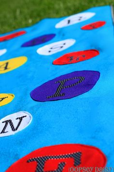 This is a super easy mat that you can make for a kiddo learning their letters.