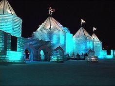 1/29/2004 St. Paul Winter Carnival Ice Castle Video.
