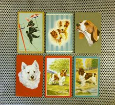 "Vintage Swap/ Playing Cards .....""Dogs playing cards.....beagle, poodle, terrier,and spaniel"" playing cards."