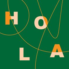 HOLA Flower Doodles, Symbols, Letters, Graphic Design, Illustration, Movie Posters, Art, Art Background, Film Poster