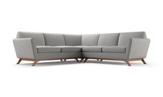 Hyland Corner Sectional by Joybird L Shaped Couch, Corner Sectional, Living Spaces, Living Room, Leather Sectional, Common Area, Mid Century Design, Mid-century Modern, Love Seat