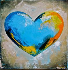 Heart Art, Love Heart, Moody Blues, Studios, Hearts, Painting, Paintings, Heart Of Love, Painting Art