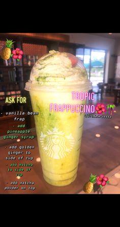 Bebidas Do Starbucks, Iced Starbucks Drinks, Starbucks Strawberry, Starbucks Vanilla, Starbucks Frappuccino, Starbucks Order, Starbucks Secret Menu Items, Starbucks Hacks, Starbucks Secret Menu Drinks