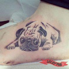 Foot Pug - Tattooed by Jon the Trike