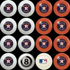 Houston Astros Home vs Away Billiard Balls