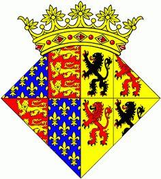Heráldica Real Portuguesa: Brasão de Filipa de Haunaut. BISAVÓ MATERNA de D. Duarte I (Ìnclita Geração) de Portugal, filho de D. João I e Filipa de Lancastre e seria o futuro rei de Portugal.