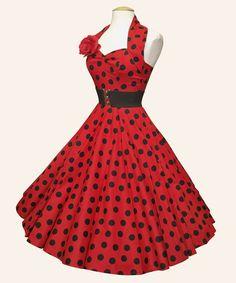 Vivien of Holloway Halterneck... 1950s Dress...