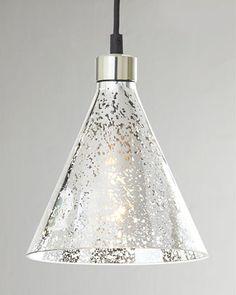 """Mercury-Glass"" Beaker Pendant by Regina-Andrew Design at Horchow. $125"