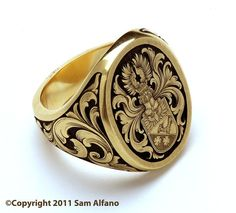 Finest quality jewelry engraving by Sam Alfano, Master Engraver