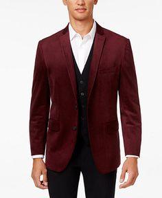INC International Concepts Men's Drew Classic-Fit Velvet Blazer, Only at Macy's - Blazers & Sport Coats - Men - Macy's