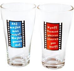 Hindi Filmy Beer Glass - Ye sharaab kambakht cheez hi aisi hai. Click on the image to buy.