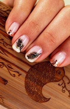 Love these fall nails.