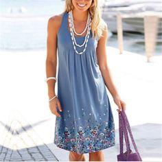 >> Click to Buy << Women Summer Casual Sexy Sleeveless Dresses Sunderss Evening Party Beach Dress Short Mini Dress J2 B3 #Affiliate