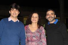 Da esquerda para direita: Leandro Negreiros, Cíntia Arreguy e Welder Silva.