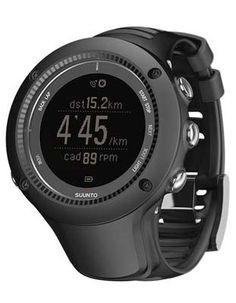 Suunto Ambit2 R Black Runners GPS Watch - Negative Display - Black Case & Strap