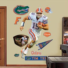 Tim Tebow, Florida Gators - White Jersey