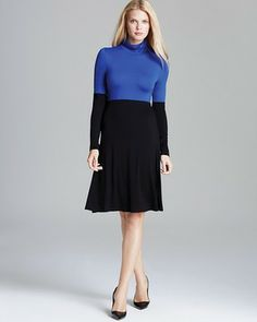 Karen Kane Color Block Turtleneck Dress on shopstyle.com