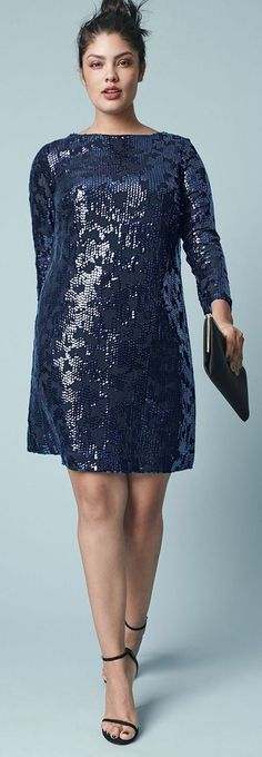 27 Plus Size Sequin Dresses {with Sleeves} - Plus Size New Year's Dresses - Plus Size Fashion for Women - Big Size Fashion, Curvy Girl Fashion, Plus Size Fashion For Women, Plus Size Womens Clothing, Size Clothing, Plus Fashion, Womens Fashion, Gq Fashion, Sequin Dress With Sleeves