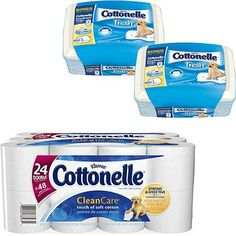 I'm learning all about Cottenelle Cottonelle Clean Care Toilet Paper with 2 Tubs of Fresh Wipes at @Influenster!