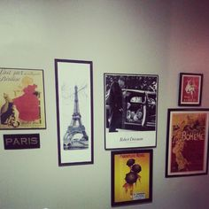 French themed gallery wall