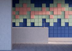 Stockholm studio Form Us With Love has added a collection of colourful square sound-absorbing tiles to its Baux range of architectural products