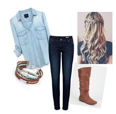 First day of school outfit by amccabe2000 on Polyvore featuring polyvore, fashion, style, Anine Bing and Qupid