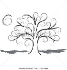 swirly designs | Swirly Tree Stock