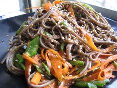 Eat Me: Soba noodle salad Noodle Salad, Pasta Salad, Soba Noodles, Fresh Pasta, Japchae, Cooking Time, Bon Appetit, Recipies, Eat