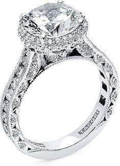 Tacori RoyalT Round Halo Diamond Engagement Ring HT2609RD