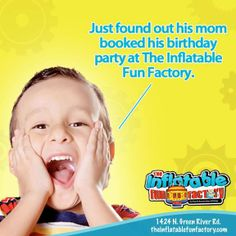 If YOUR New Year's resolution is to be nominated 'Mom of the YEAR'...booking their birthday party at The Inflatable Fun Factory is the first step :)  Call (812) 471-5867 & book today!