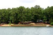 Watsadler Campground is located adjacent to the Hartwell Dam with a wide view overlooking Hartwell Lake in Georgia.