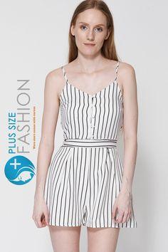 fbc2db99224 Black And White Stripe Playsuit
