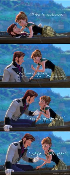 Anna in Disney's Frozen Trailer. | The moment when Anna sounds most like me. Wait.. what? #awkward
