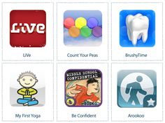 Apps for teaching healthy habits to your kids/students.  maybe one day i will have a fancy phone to use this with!!!