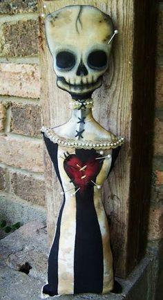 Voodoo skull doll