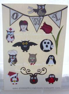 elizabeth's craft room: Owl Punch Ideas