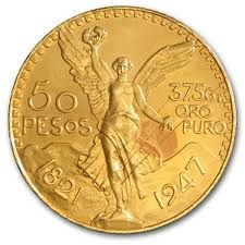 8/31: Pure gold Mexican 50 Peso coin from Lake Mary! beautiful! www.orlandoestatebuyer.com