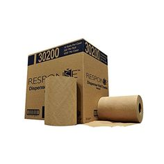Response 30200 Dispenser Hardwound Roll Towel, Length x Width, Natural (Case of Hardwound roll towel (HRT), yields better absorbency and hand drying efficiency, results in reduced consumption. Cleaning Supply Storage, Cleaning Supplies, How To Roll Towels, Fibre Material, Rolled Paper, Cleaners Homemade, Household Cleaners, 3 D, No Response